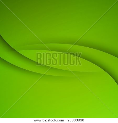Green vector Abstract background with curves lines
