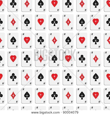 Seamless Pattern Of Aces 02