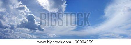 Wide Summer Blue Sky Website Banner