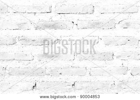 Red Brick Wall Texture White Color