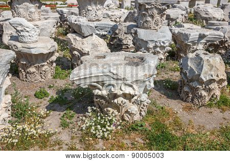 Agora Ruins With Daisies