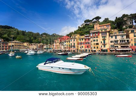 Colorful harbor of Portofino, Liguria, Italy