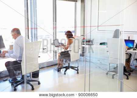 Group of people working in a modern office