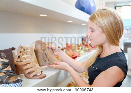 Browsing the shoe collection