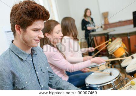Percussion lesson