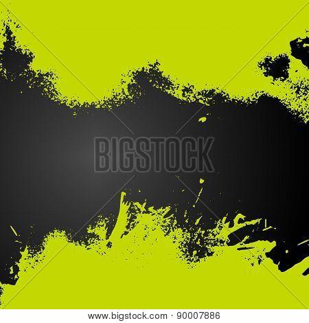 Vector Green Paint Splash Frame Background