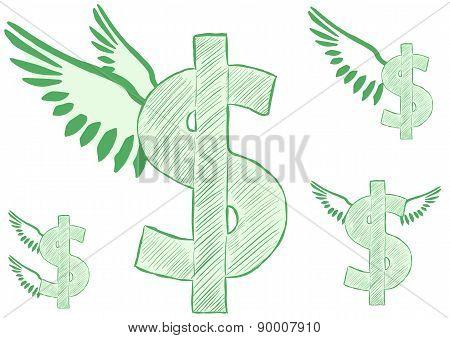 Winged dollar