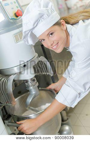 Industrial bread mixer