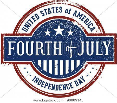Vintage Fourth of July Stamp