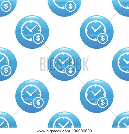 Clock and dollar sign pattern