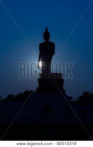 Buddha statue Silhouette