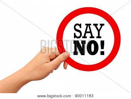 Say no sign
