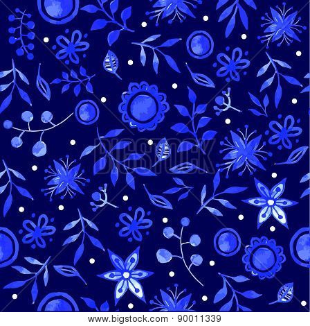 Vector Illustration With Original Blue Background.