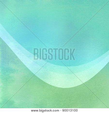 Green blue watercolor background
