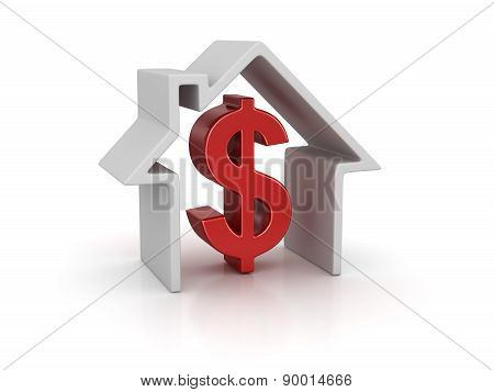 House And Dollar Sign