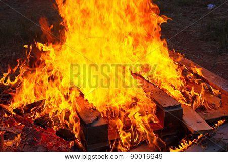 Close Up Of A Bonfire