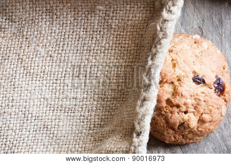 Cookies On A Old Wooden Table