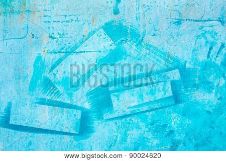 Old Blue Metallic Background With Strokes