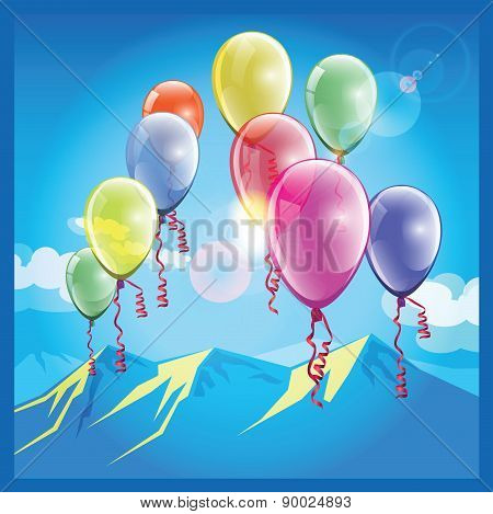 Balloons And Mountains