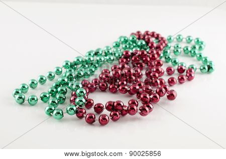 Isolated String Colored Beads