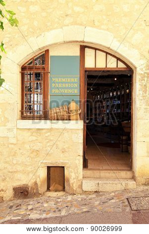 Local Wine Shop In Saint Paul De Vence