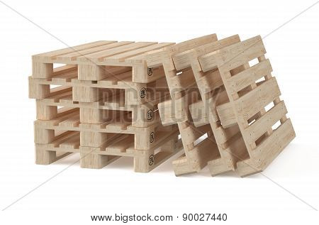 Set Of Wooden Eur Pallets