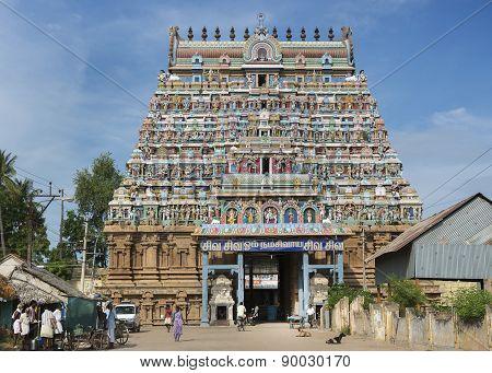 Main Entrance To The Mahalingeswarar Temple.