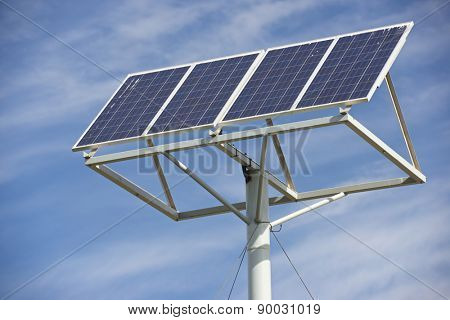 Photovoltaic panel for renewable energy production.