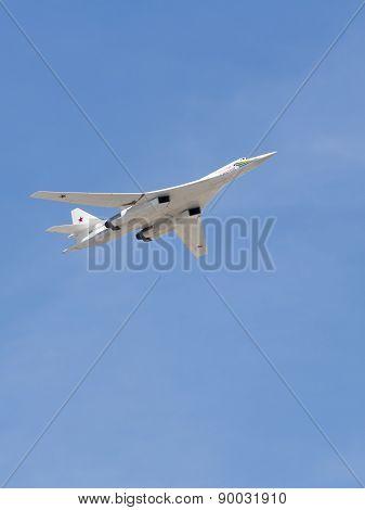 Tu-160 Military Aircraft White