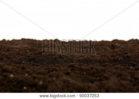 Soil texture isolated on white