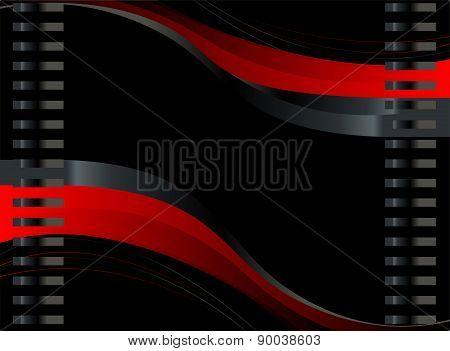 Wave black background