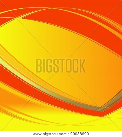 Wave orange vector on white background