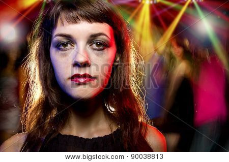 Drunk Female in a Nightclub