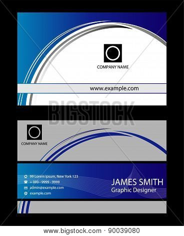 Templates for business cards. Elements for design
