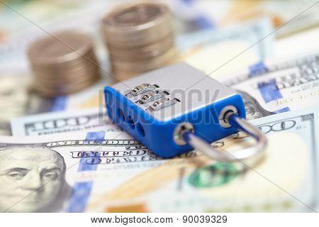 padlock on the dollars