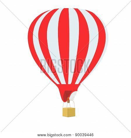 hot air balloon, vector, illustration,