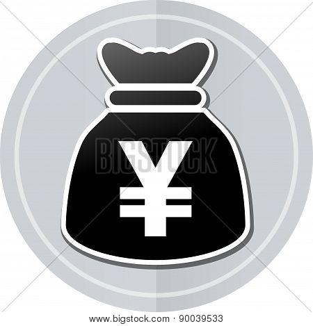 Yens Bag Sticker Icon