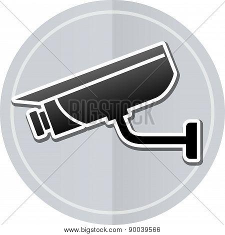 Video Surveillance Sticker Icon
