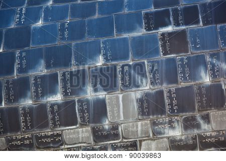 Heat Resistant Tiles On Outside Of Nose Of Space Shuttle