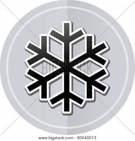 Cold Sticker Icon