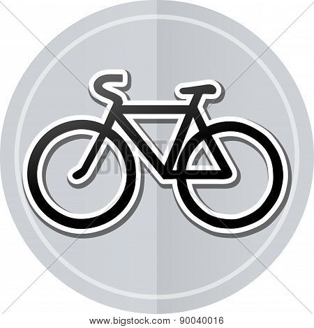 Bicycle Sticker Icon
