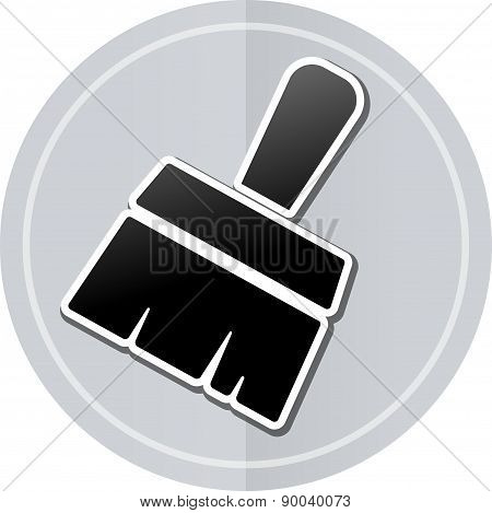 Paintbrush Sticker Icon