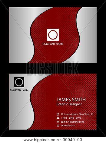 Business card dark red
