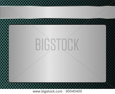Background image metal template