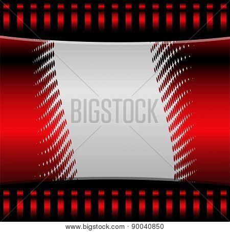 Red background vector curve and space for message and text web design