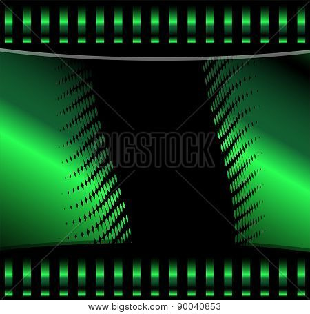 Green background vector curve and space for message and text web design