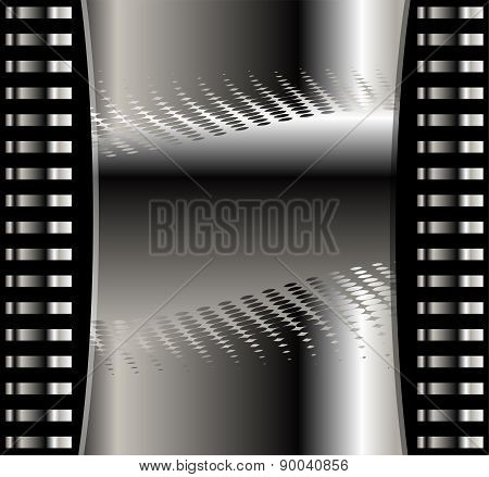 Abstract vector background with dark black metal layers