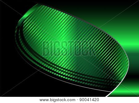 Vector green and black background wave design for text and message