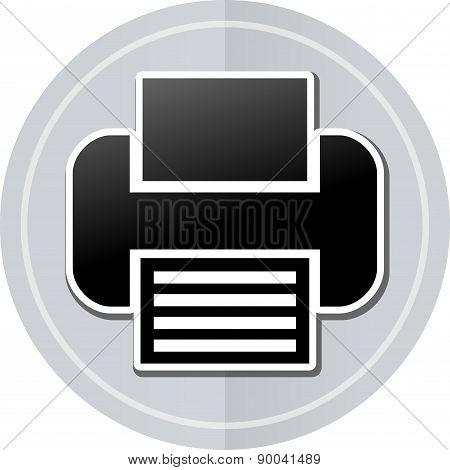 Printer Sticker Icon