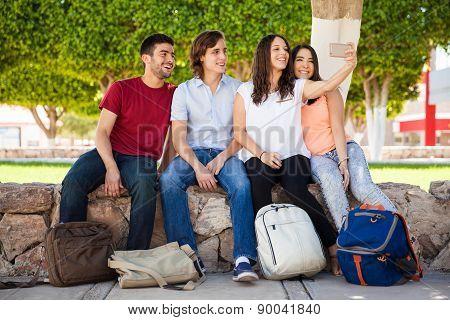 Group Selfie At School